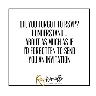 Planning Tip Tuesday: RSVP Etiquette